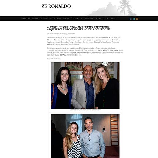 Alcance Construtora no Blog Zé Ronaldo